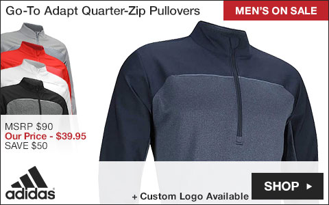 Adidas Go-To Adapt Quarter-Zip Golf Pullovers - ON SALE