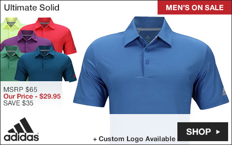 Adidas Ultimate Solid Golf Shirts - ON SALE