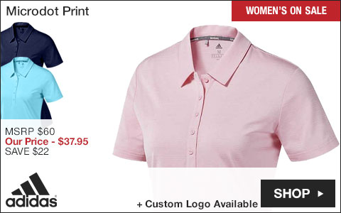 Adidas Women's Microdot Print Golf Shirts - ON SALE