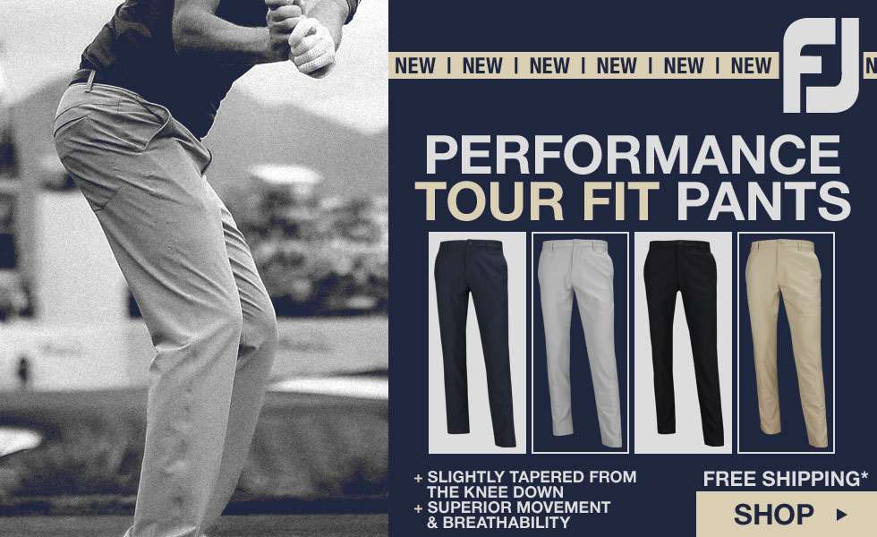 New FJ 	Performance Tour Fit Golf Pants