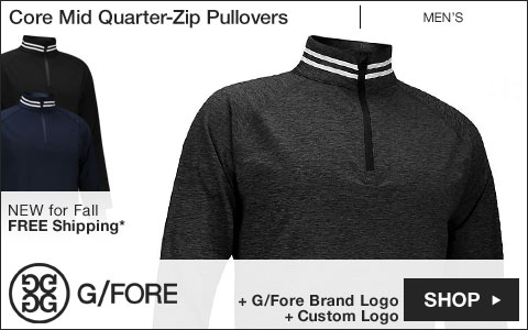 G/Fore Core Mid Quarter-Zip Golf Pullovers