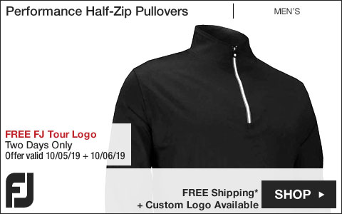 FJ Performance Half-Zip Golf Pullovers with Gathered Waist - FREE FJ Tour Logo Available