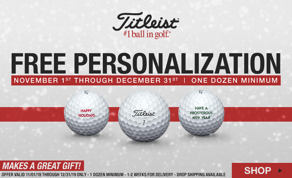 Free Personalization on Titleist Golf Balls for the Holidays
