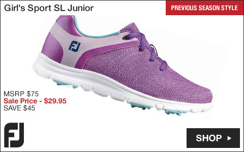 FJ Girl's Sport SL Junior Golf Shoes - Previous Season Style