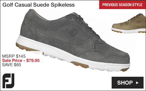 FJ Golf Casual Suede Spikeless Golf Shoes - Previous Season Style