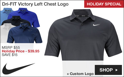 Nike Dri-FIT Victory Left Chest Logo Golf Shirts