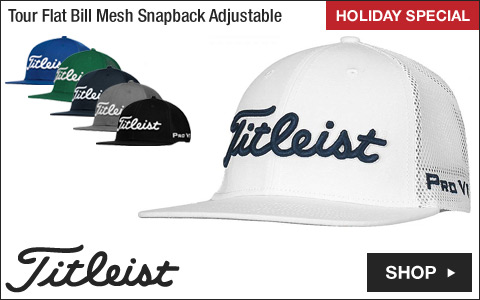 Titleist Tour Flat Bill Mesh Snapback Adjustable Golf Hats - ON SALE