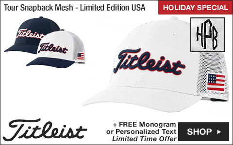 Titleist Tour Snapback Mesh Collection Adjustable Golf Hats - Limited Edition USA - ON SALE