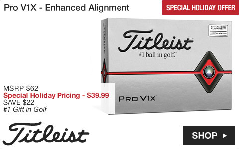 Titleist Pro V1X Golf Balls - Enhanced Alignment - Special Holiday Offer