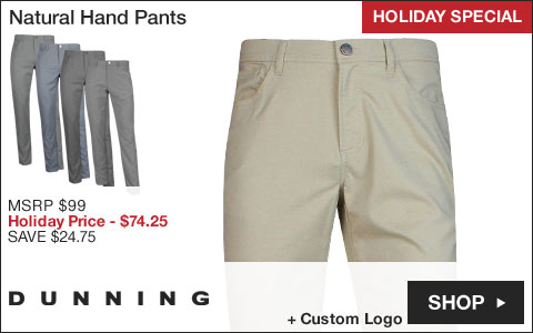 Dunning Heathered 5-Pocket Golf Pants - HOLIDAY SPECIAL