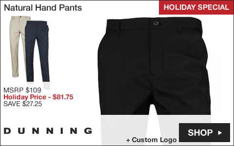 Dunning Natural Hand Golf Pants - HOLIDAY SPECIAL
