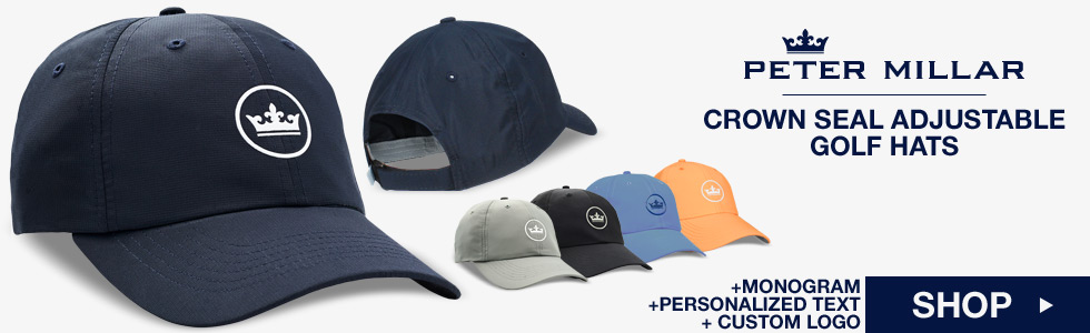 Peter Millar at Golf Locker - Crown Seal Adjustable Golf Hats