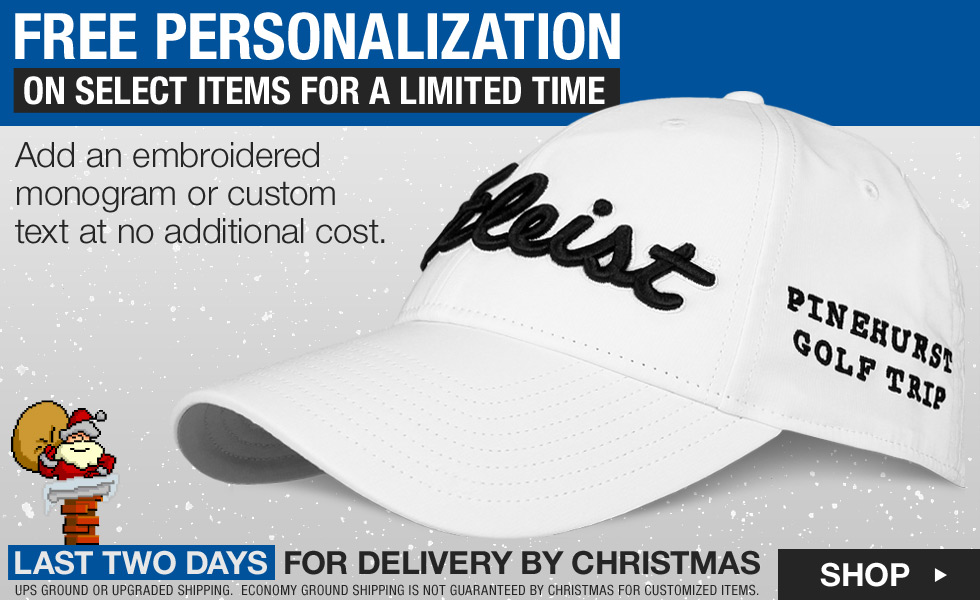 Free Embroidery Personalization for the Holidays at Golf Locker