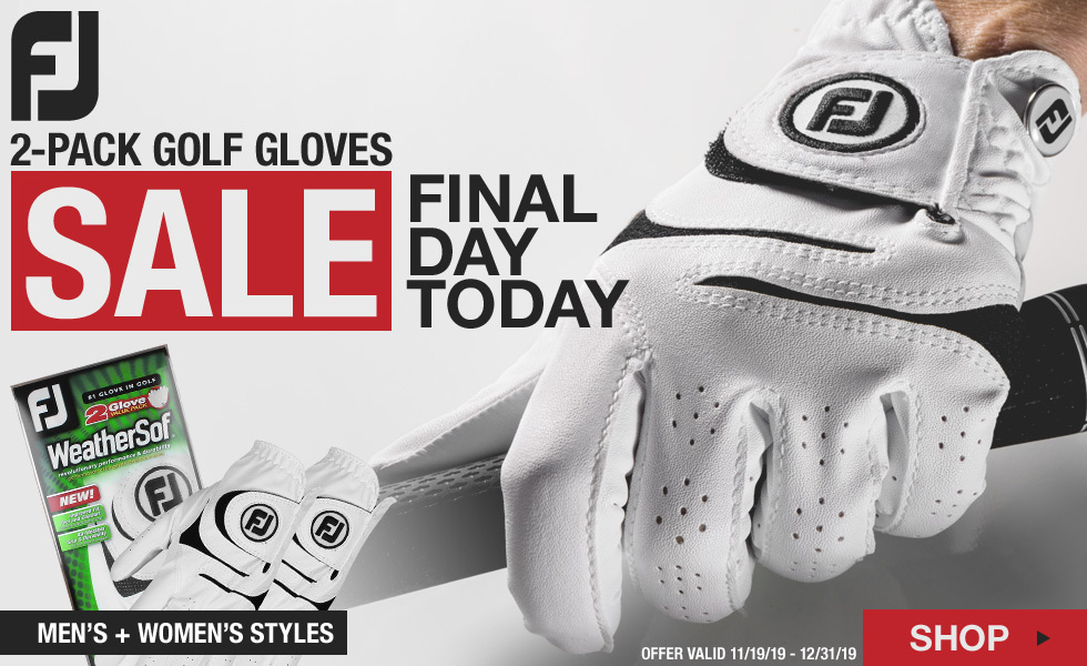 Final Day - FJ WeatherSof 2-Pack Golf Gloves Holiday Sale