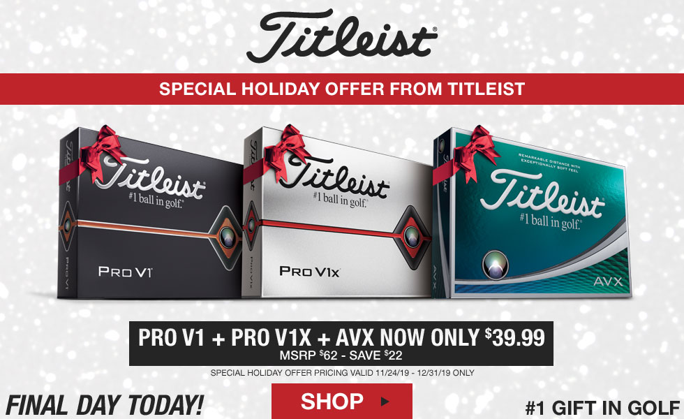 Final Day - Special Holiday Offer from Titleist on Pro V1 and AVX Balls