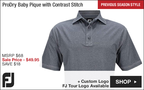 FJ ProDry Baby Pique with Contrast Stitch Golf Shirts - FJ Tour Logo Available - Previous Season Style