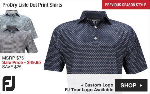 FJ ProDry Lisle Foulard Print Golf Shirts - Athletic Fit - FJ Tour Logo Available - Previous Season Style - ON SALE
