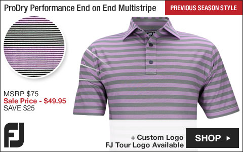 FJ ProDry Performance End on End Multistripe Golf Shirts - Athletic Fit - Violet - FJ Tour Logo Available - Previous Season Style