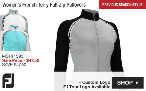 FJ Women's French Terry Full-Zip Golf Pullovers - FJ Tour Logo Available - Previous Season Style