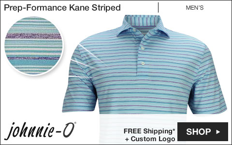 Johnnie-O Prep-Formance Kane Striped Golf Shirts