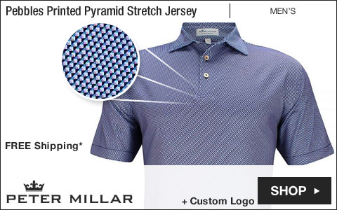 Peter Millar Pebbles Printed Pyramid Stretch Jersey Golf Shirts