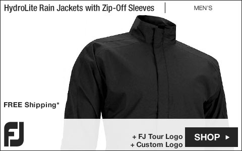 FJ HydroLite Golf Rain Jackets with Zip-Off Sleeves - FJ Tour Logo Available