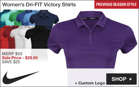 Nike Women's Dri-FIT Victory Golf Shirts - Previous Season Style