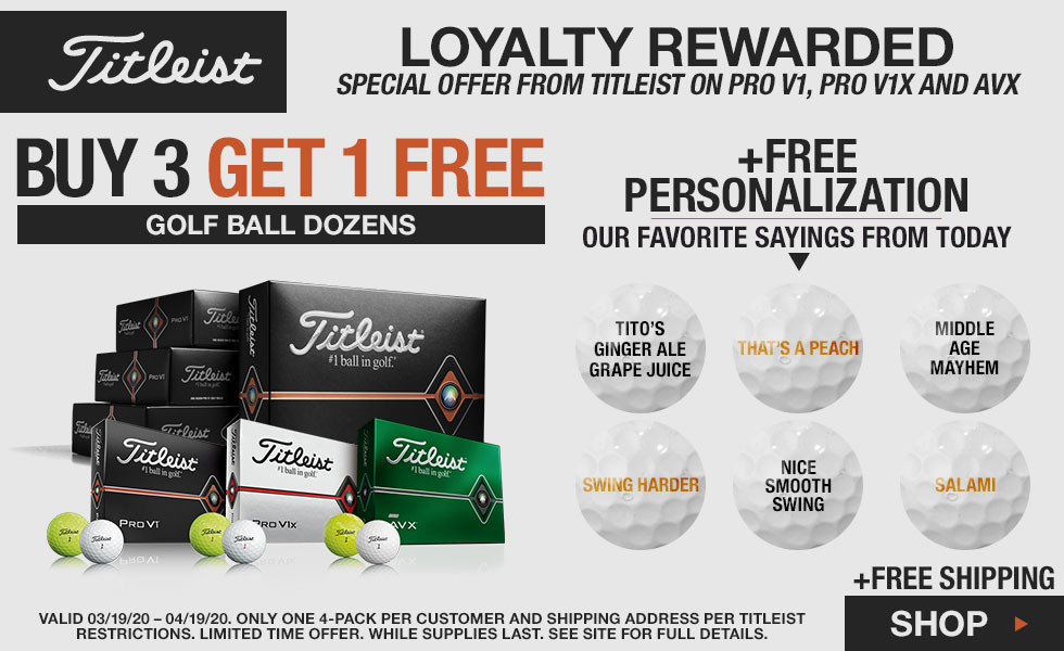 Titleist Buy 3, Dozen Get 1 Free Personalized Balls