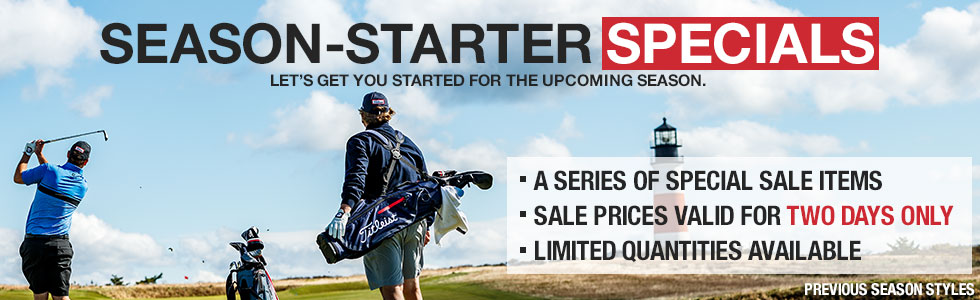 Season-Starter Special - Titleist Stand and Sunday Bags - Two Days Only