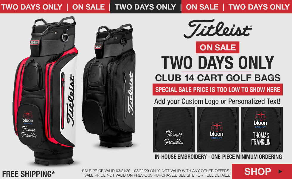 Titleist Club 14 Cart Golf Bags - ON SALE - Two Days Only