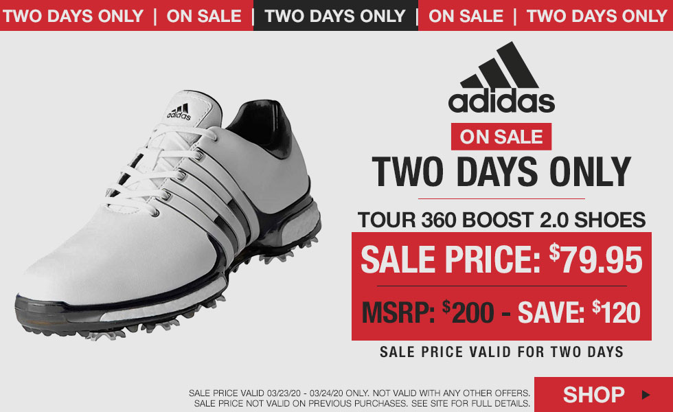 Adidas Tour 360 Boost 2.0 Golf Shoes - ON SALE - Two Days Only