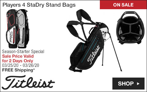Titleist Players 4 StaDry Stand Golf Bags - ON SALE