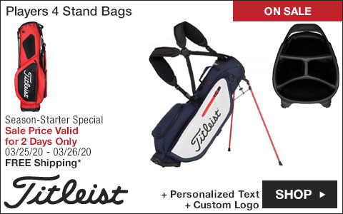 Titleist Players 4 Stand Golf Bags - ON SALE