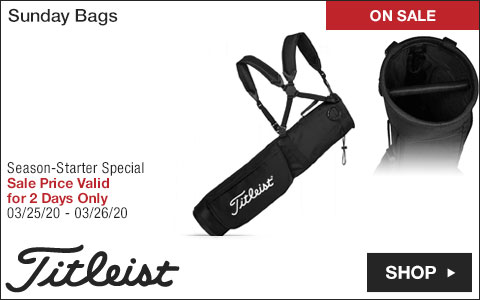Titleist Sunday Golf Bags - ON SALE