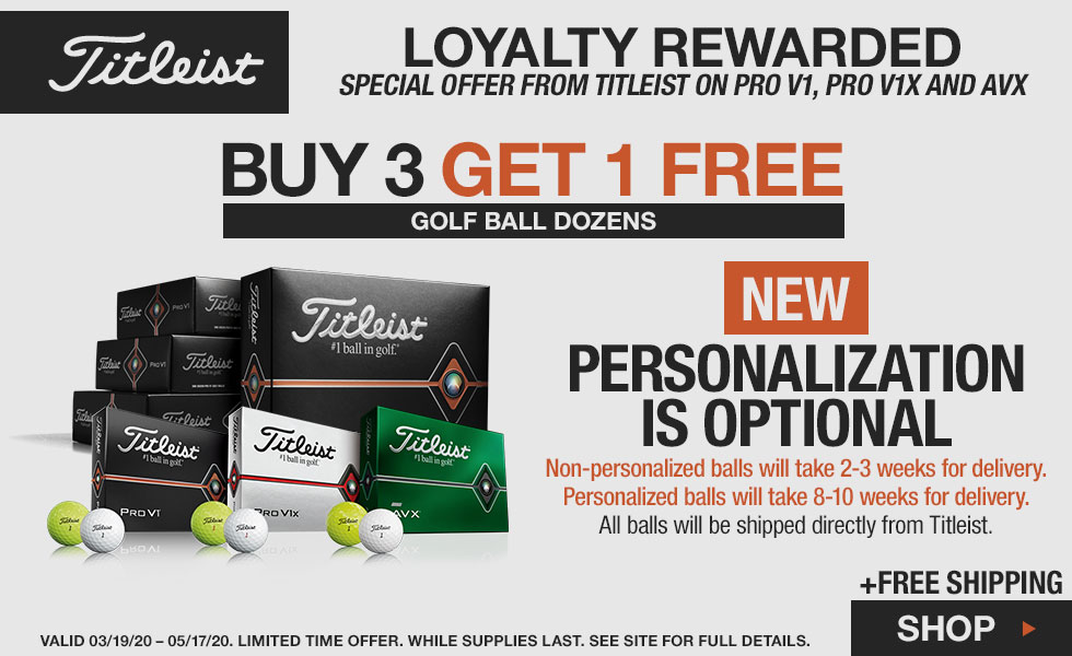 Titleist Balls Buy 3 Dozen, Get 1 Free + Optional Personalization