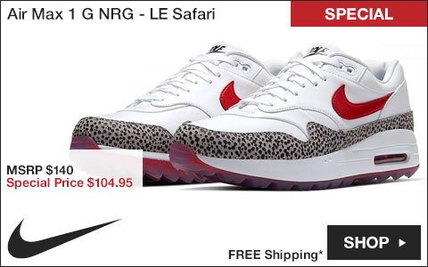 Nike Air Max 1 G NRG Spikeless Golf Shoes - Limited Edition Safari