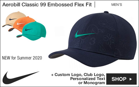Nike 	Aerobill Classic 99 Embossed Flex Fit Golf Hats
