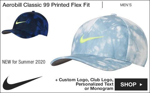 Nike Aerobill Classic 99 Printed Performance Flex Fit Golf Hats