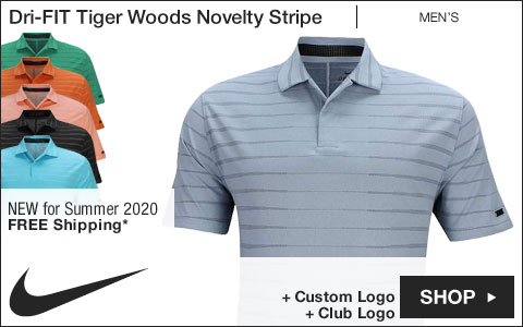 Nike Dri-FIT Tiger Woods Novelty Stripe Golf Shirts