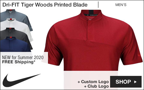 Nike Dri-FIT Tiger Woods Printed Blade Golf Shirts