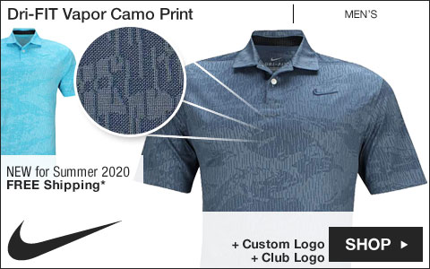 Nike Dri-FIT Vapor Camo Print Golf Shirts