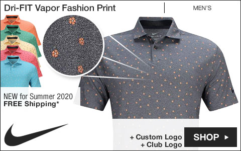 Nike Dri-FIT Vapor Fashion Print Golf Shirts