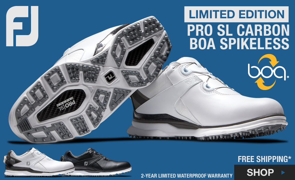 FJ Pro SL Carbon BOA Spikeless Golf Shoes