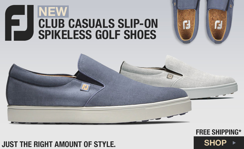 FJ Club Casuals Slip-On Spikeless Golf Shoes