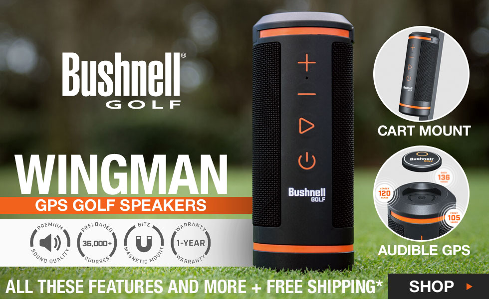 Bushnell Wingman GPS Golf Speakers at Golf Locker