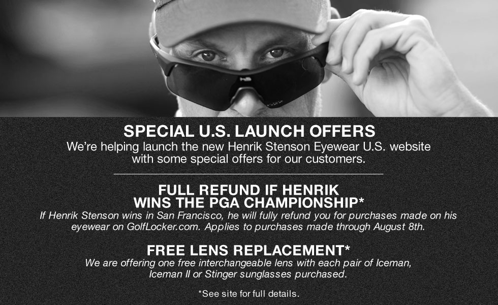 Exclusive Offers on Henrik Stenson Eyewear for Golf Locker Customers Only