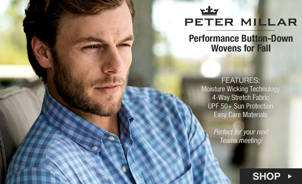 Peter Millar Button-Down Wovens for Fall