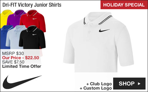 Nike Dri-FIT Victory Junior Golf Shirts - HOLIDAY SPECIAL
