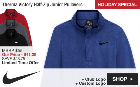 Nike Therma Victory Half-Zip Junior Golf Pullovers - HOLIDAY SPECIAL
