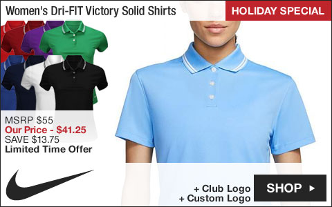 Nike Women's Dri-FIT Victory Solid Golf Shirts - HOLIDAY SPECIAL